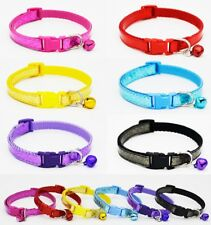 Nylon Dog Collar Puppy Small XS Tiny Strong Clip Bling Pink Black Male Female UK