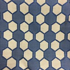 """Zoffany Honeycomb Curtain Craft Cushion Upholstery Fabric 4mtrs Woven 54""""in Blue"""