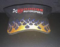 Dodge Motorsports Ram Logo NASCAR Licensed Black Visor