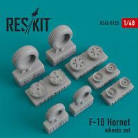 Reskit RS48-0125 - 1/48 – Wheels set for F-18 Hornet Resin Detail