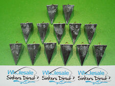 13 x size 8oz(224gms) hand cast australian made pyramid surf fishing sinkers