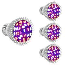 4Pcs 28W E27 Full Spectrum LED Wachstum Grow Pflanzen Lampe Licht Pflanzenleucht