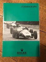 Rolex depliant brochure per daytona  6239 anni 60/70