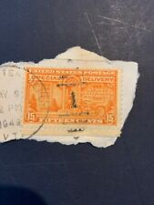 Us E16 15 cent Special Delivery Orange stamp - Used
