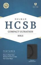 HCSB Compact Ultrathin Bible, Charcoal LeatherTouch (2015, Imitation Leather)