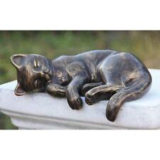 qui dort Chat Sculpture d'animal en bronze Kater NEUF frostfest Figure mu-29