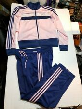 Adidas  Three Stripes Tracksuit  Set PINK/NAVY Size Large Womens