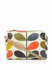 ORLA KIELY OVAL STEM BEIGE&BLACK TRAVEL POUCH CAN BE SHOULDER OR CROSS BODY GIFT