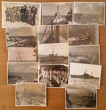 Lotto di 14 foto su esercitazioni navali militari