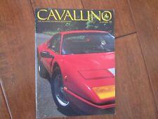 VINTAGE CAVALLINO FERRARI MAGAZINE NUMBER 22 1984 Boxer BB 512 Cover