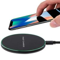 For iPhone XS Max XR X 8 Qi Wireless Fast Charger Charging Pad Mat Metal.