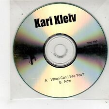 (FU611) Kari Kleiv, When Can I See You? / Now - DJ CD