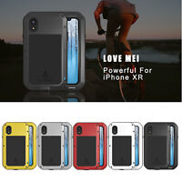 LOVE MEI Shockproof Cover For Apple iPhone XR Case Aluminum Metal Silicone Shell