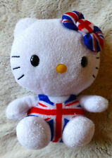 Peluche doudou HELLO KITTY TY drapeau anglais union jack H 15 cm Angleterre
