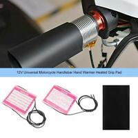 12V Universal Motorcycle Handlebar Hand Warmer Heated Grip Pad Tape Kit Black