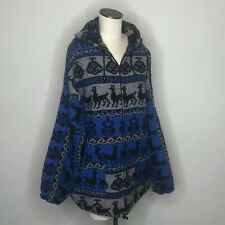 Alpaca Wool Zip up Jacket / Andean Llama Design Unisex Sz 2XL / 3XL Unbranded