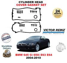 FOR BMW 645 Ci 650 i 2004-2010 NEW 2X PIECE ROCKER COVER GASKET SET WITH SCREWS