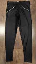 SIZE 12/14 BLACK LEGGINGS TOWIE/CELEB/BOHO/WINTER/XMAS/EVENING/LOVE/PARTY/WORK