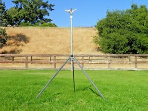 CORN SPRINKLER COMMERCIAL QUALITY TRIPOD W/ LONG THROW SPRINKLER 9'FT HIGH 120FT