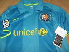 Very Rare Nike Dri Fit ORIGINAL Barcelona Away Sky Blue Aqua Jersey Size XL