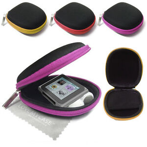 MP3 Player Cover / Earphone Case, Clamshell for Apple iPod nano 6th Generation