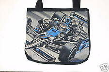 DANICA PATRICK COLIN CARTER  INDY 500 GO DADDY  WOVEN TOTE BAG NASCAR