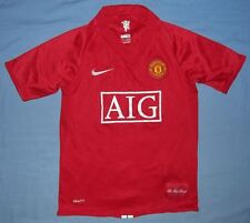 Manchester United / 2007-2009 Home - NIKE Junior Shirt./ Jersey. 10/12y, 140-152
