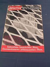 Détective 1962 820 RAISMES SALON LA TOUR WIZERNES GAMBSHEIM FONTAINE GAILLARDE