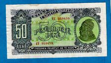 More details for rare 1949 issue aunc albania p25 50 leké skanderbeg & soldier