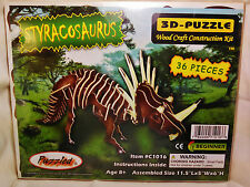 """3D PRE-COLORED WOOD PUZZLE """"STYRACOSAURUS"""" BY PUZZLED"""