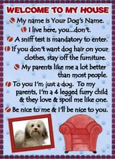 Havanese Welcome To My House Personalized With Your Dog's Name
