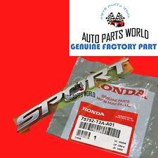 GENUINE HONDA 2013-2017 ACCORD SEDAN CHROME REAR SPORT NAMEPLATE 75752-T2A-A01
