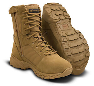 """Smith & Wesson Breach 2.0 8"""" Side Zip Boot Coyote"""