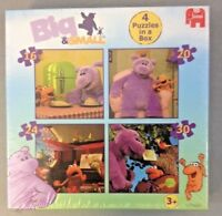 Jumbo Big & Small 4 Puzzles In A Box Games Creative Play Gift Idea 3yrs+ BNIB