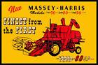 Massey Harris Combine  Fridge Magnet
