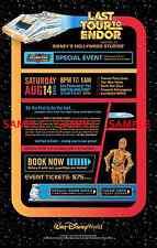 Disneyworld  ( Star Tours ) Collector's Poster Print - B2G1F