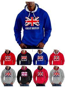 Union Jack Hoodie Team Great Britain Flag GB Sweatshirt - Smartphone Compatible