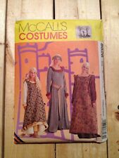 McCall's Pattern 8826 Ladies Misses' Medieval Dress Costume Size 10, 12, 14