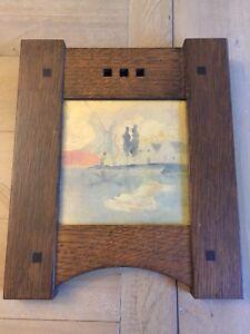 Weller Pottery Antique LASA Sicard ART WAGNER Tile TRIVET RARE