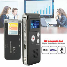 8GB Rechargeable Digital Audio/Sound/Voice Recorder Dictaphone MP3 Player USB