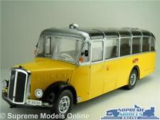 SAURER L4C BUS MODEL SWISS PTT 1959 1:43 SIZE IXO POST SAN BERNARDINO YELLOW T34
