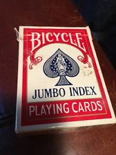 Bicycle Jumbo Index Playing Cards, RED Back