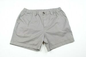 """Chubbies Originals Gray Skys Out Thighs Out 5.5"""" Chino Shorts Mens sz L"""