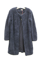 Paint It Red Women's Navy Faux Fur Coat, Size S
