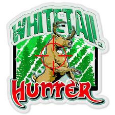 "Deer Hunter Hunting car bumper sticker window decal 4"" x 4"""