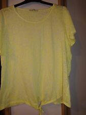 #G15 - Yellow Floral Print Top From George - Size 20