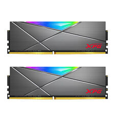 XPG SPECTRIX D50 RGB Desktop Memory: 16GB (2x8GB) DDR4 3000MHz CL16 GREY