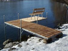 Pier Section Wood Dock Deck Canoe Kayak Rack Boat Bumpers Ladder Bench Wickcraft