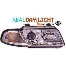 LHD Projector LED DRL Headlights Pair Clear Chrome For Audi A4 Avant 8D2 99-00