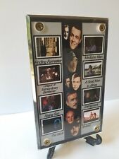 Sean Connery Film Frame Cell Display of Eight  Different Movies w/zipper pouch